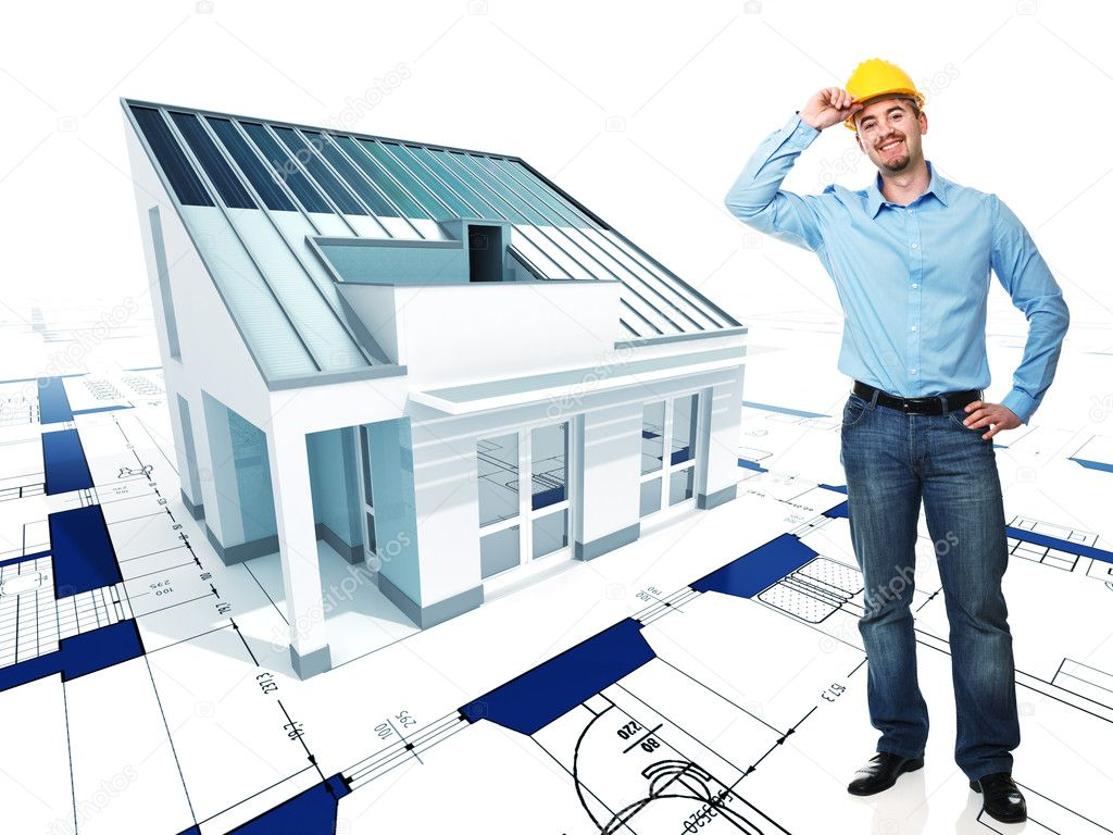 Http Depositphotos Com 5305858 Stock Photo Architect With His Project Html