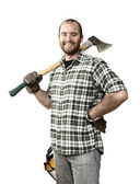 Lumberjack portrait — Stock Photo