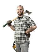 Lumberjack portrait — Stock Photo