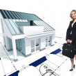 Stock Photo: House concept and woman