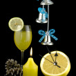 New Year's glass - Foto Stock