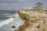 Waves at coast Tel Aviv — Stock Photo