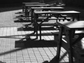 Picnic Benches and Tables — Stock Photo