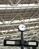 Large Train Station Clock — Stock Photo