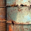 Stock Photo: Heavy Corrosion of Oil Drums