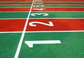 Starting Line of a Running Track — Stock Photo
