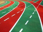 Athletic Track and Field Markings — Stock Photo