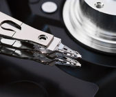 Close-up opened hard disk drive — Stock Photo