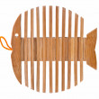 Wooden stand as skeleton fish - Stock Photo