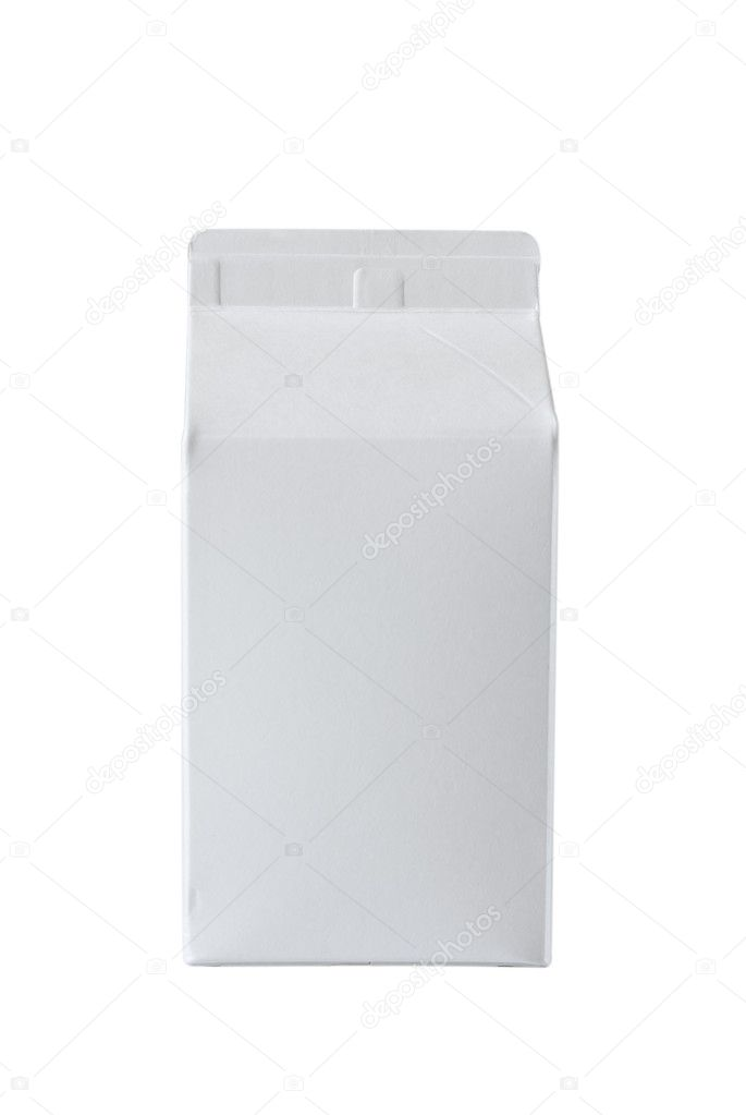 Milk Box per half liter, isolated on white background — Stock Photo #5308029