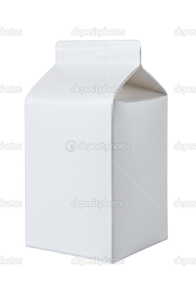 Milk Box per half liter, isolated on white background — Stock Photo #5341667