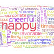 Happy cheerful word cloud — Stock Photo #4369417