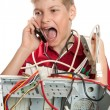 Repair your computer. A young man calls to technical support. — Stock Photo #5213922