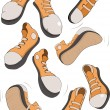 Stock Vector: Complete set of sports footwear