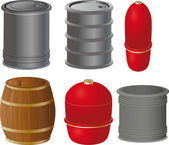 The complete set barrels — Stock Vector