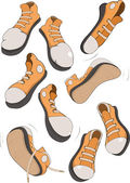 The complete set of sports footwear — Stock Vector