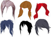 The hair dress complete set — Stock Vector