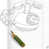 Drawn phone — Stock Vector