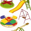 The complete set a children's swing — 图库矢量图片
