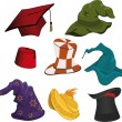 Royalty-Free Stock Vector Image: The complete set of hats