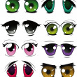 The complete set of the drawn eyes — Stock Vector #4097258