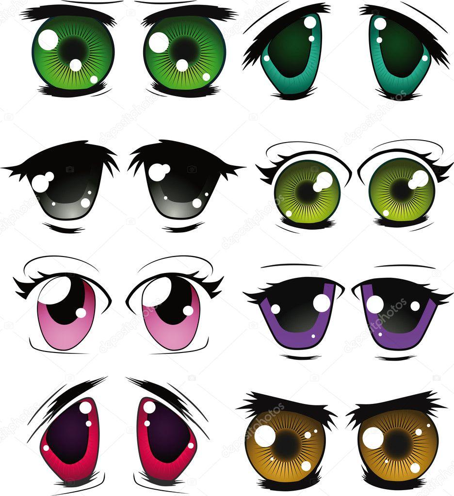 Полный набор нарисованные глаза