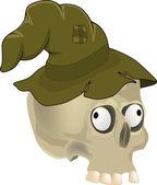 Skull in a hat — Stock Vector