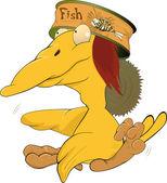 Yellow ridiculous bird — Stock Vector