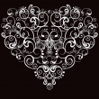 Heart, abstract pattern on a black background — Vettoriali Stock