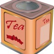 Box for tea - Stock Vector
