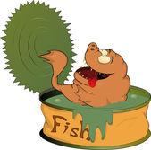 Comida de peixe enlatado — Vetorial Stock