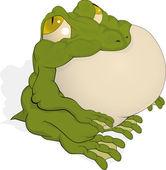 Le gros crapaud vert — Vecteur