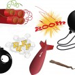 Complete set explosive — Vector de stock #4664751