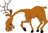 Elk caricature — Stock Vector