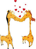 Love and giraffes — Stock Vector