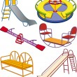 Stock Vector: Complete set children's swing