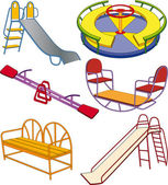 The complete set a children's swing — Stock Vector