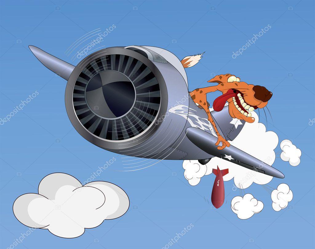 Cartoon Army Plane Che...