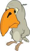 Sad birdie.Cartoon — Stock Vector