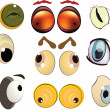 Complete set of drawn eyes — Stock Vector #5207255