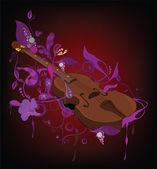 Abstract background and violin — Stock Vector