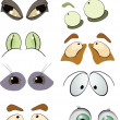 The complete set of the drawn eyes. Cartoon — Stock Vector #5250344