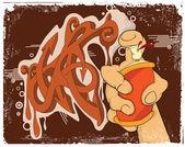 Graffiti. Cartoon — Stock Vector