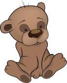 Oso cub.cartoon — Vector de stock