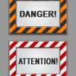 Stock Vector: Danger signs