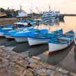Stock Photo: Boats near semooring