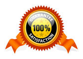 100% Satisfaction Guaranteed Sign — Stock Vector
