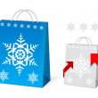 Christmas Paper Bag Design — Stock Vector