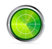 Illustration of radar or oscilloscope monitor — Stock Vector