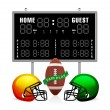 Home and Guest Scoreboard — Stock Vector #4334127